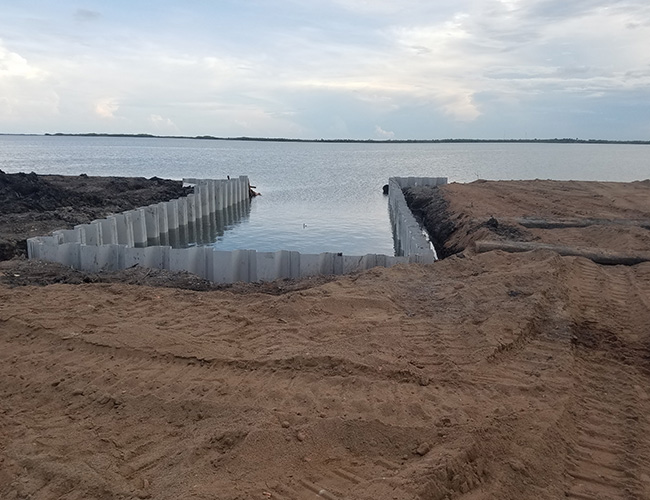 Belize Seawall Construction - South West Construction